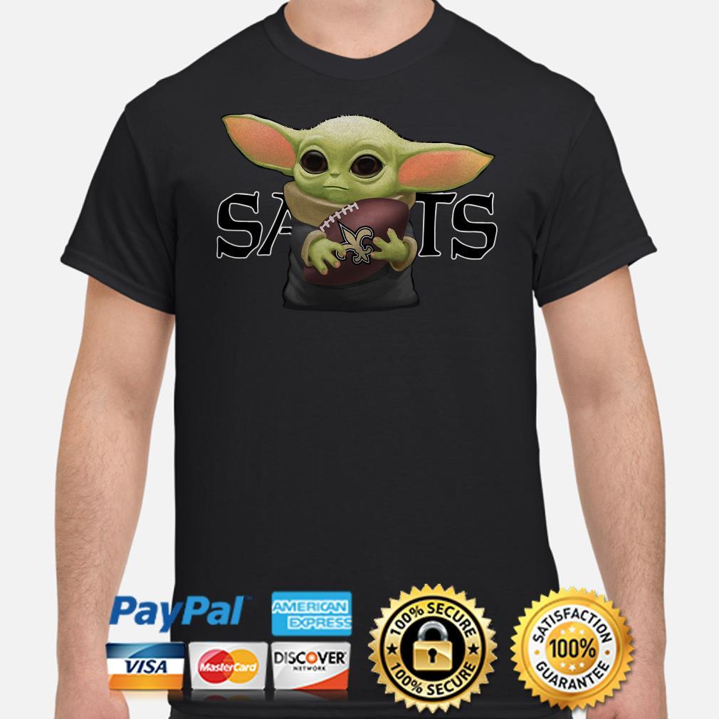 Baby Yoda hug Saints New Orleans shirt