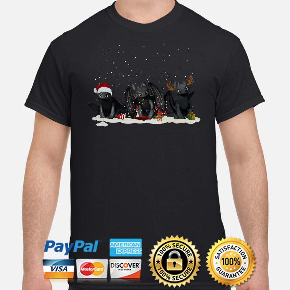 Santa Night Fury reindeer Christmas t-shirt