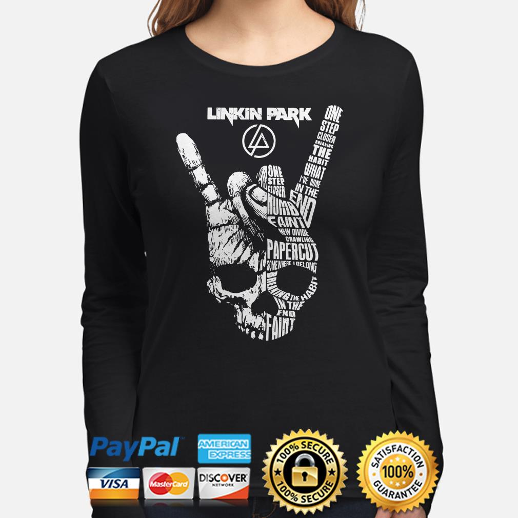Skull Linkin Park one step closer breaking the habit I've done in the end Long sleeve