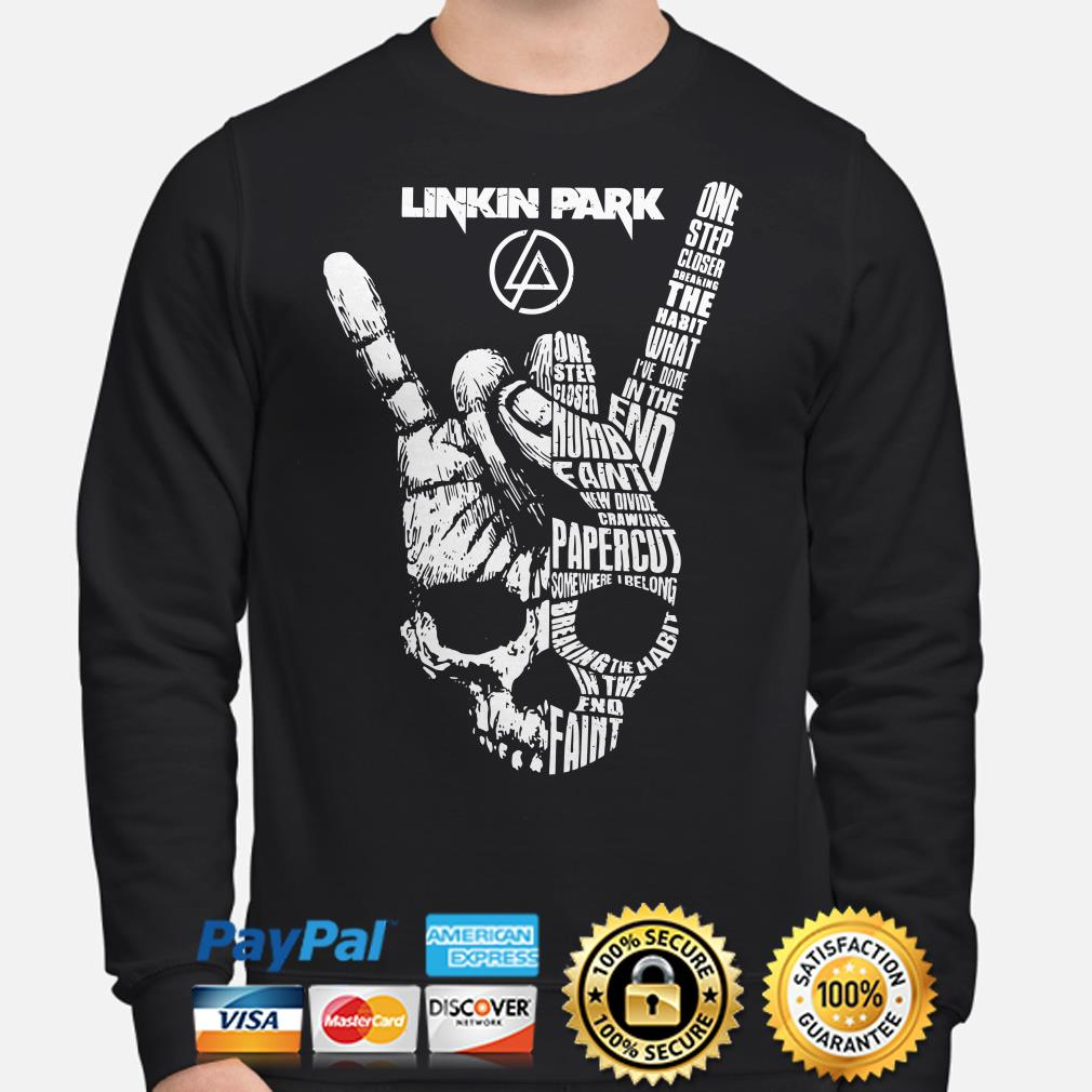 Skull Linkin Park one step closer breaking the habit I've done in the end Sweater