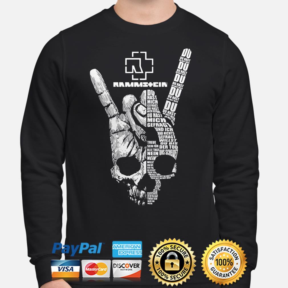Skull Victory sign Rammstein Du hast mich gefragt Sweater
