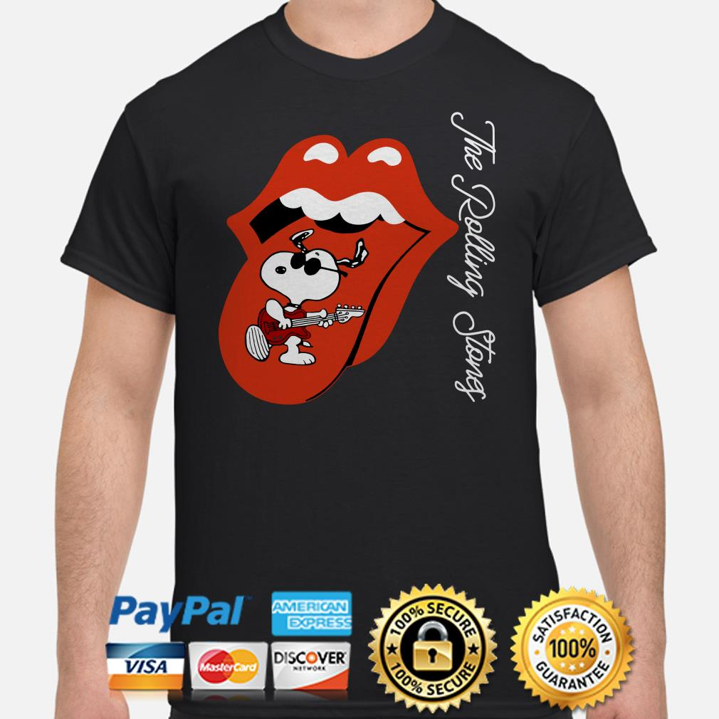 Snoopy The Rolling Stones shirt