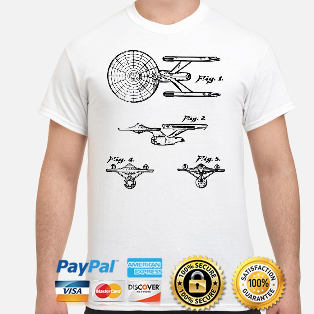 Star Trek Spaceships Fig 1 2 3 4 5 shirt