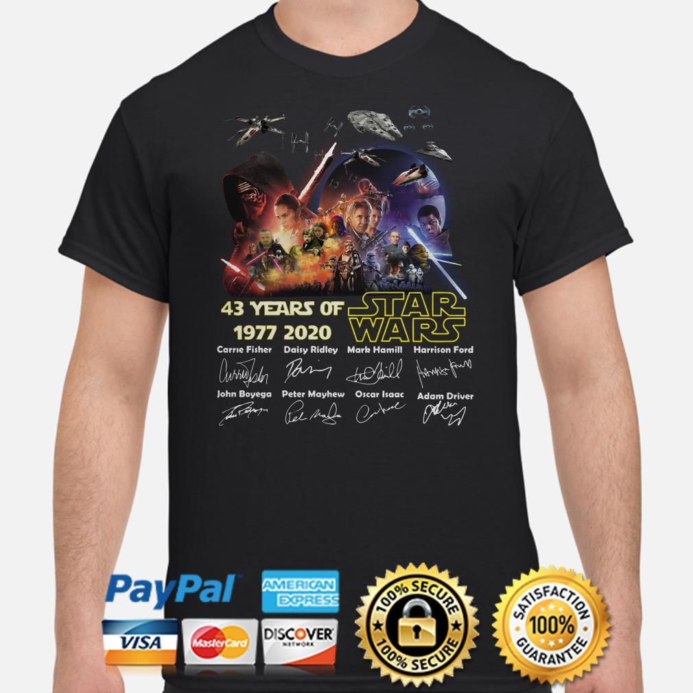 Star Wars 43 years of signature shirt