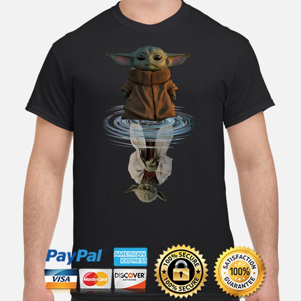 Star Wars Baby Yoda water mirror reflection shirt
