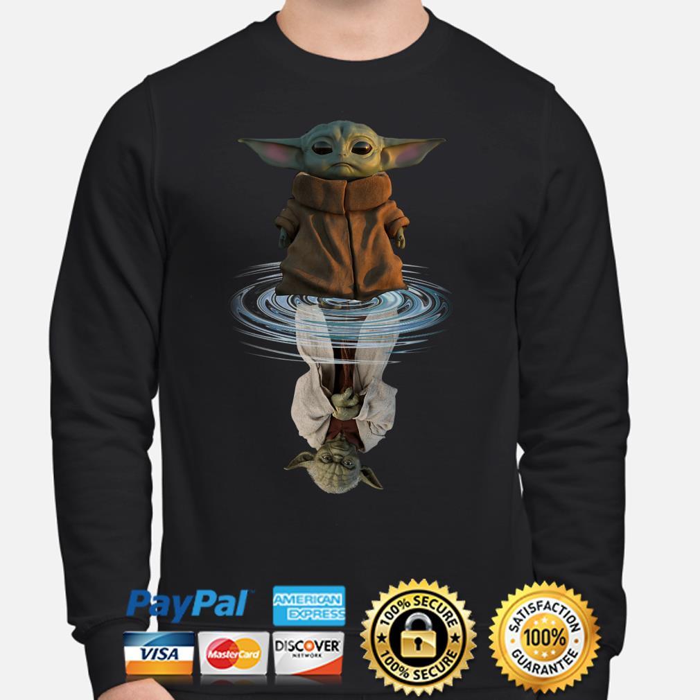 Star Wars Baby Yoda water mirror reflection Sweater