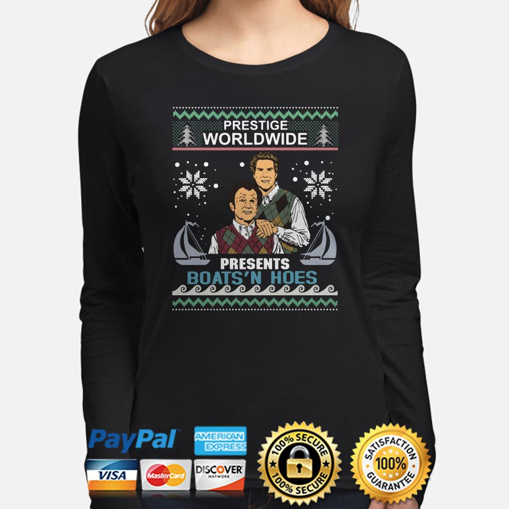 Step Brothers prestige worldwide presents boat's hole ugly Christmas long sleeve