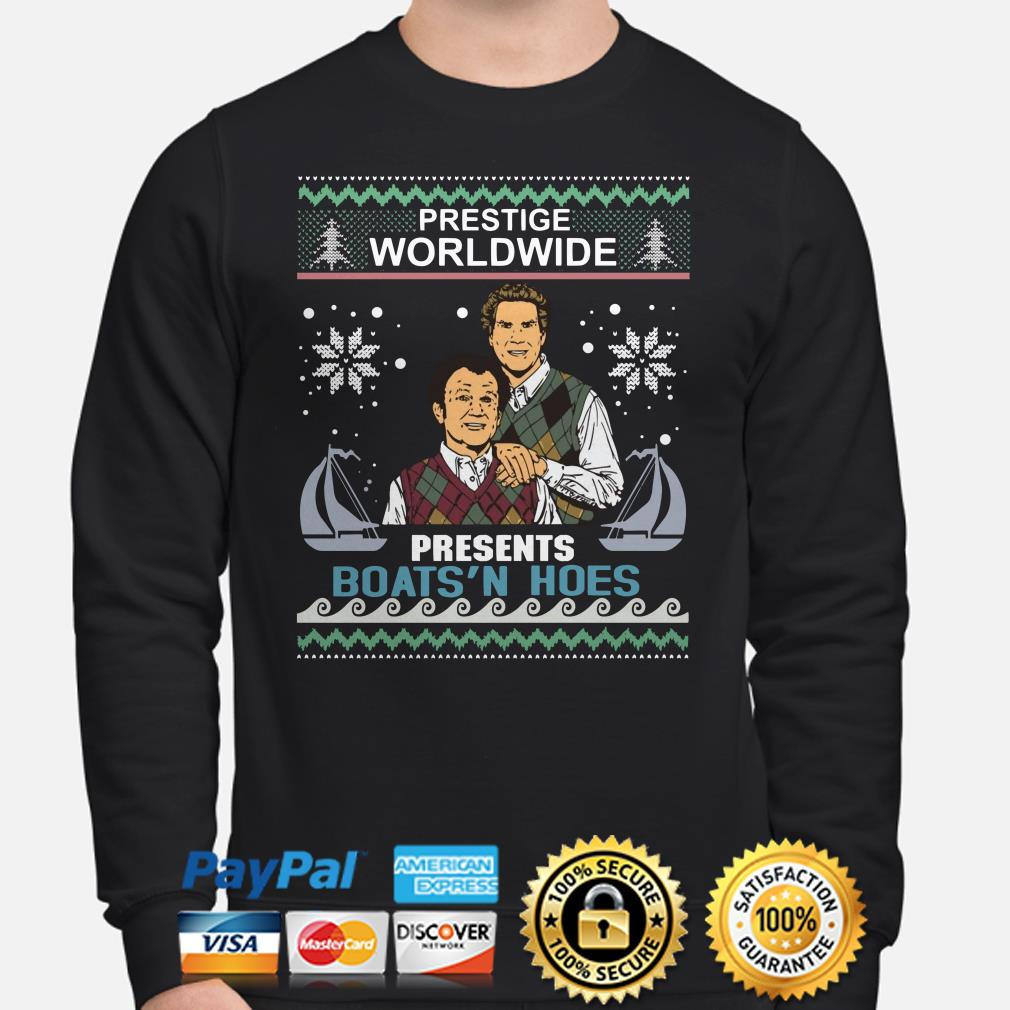 Step Brothers prestige worldwide presents boat's hole ugly Christmas sweater