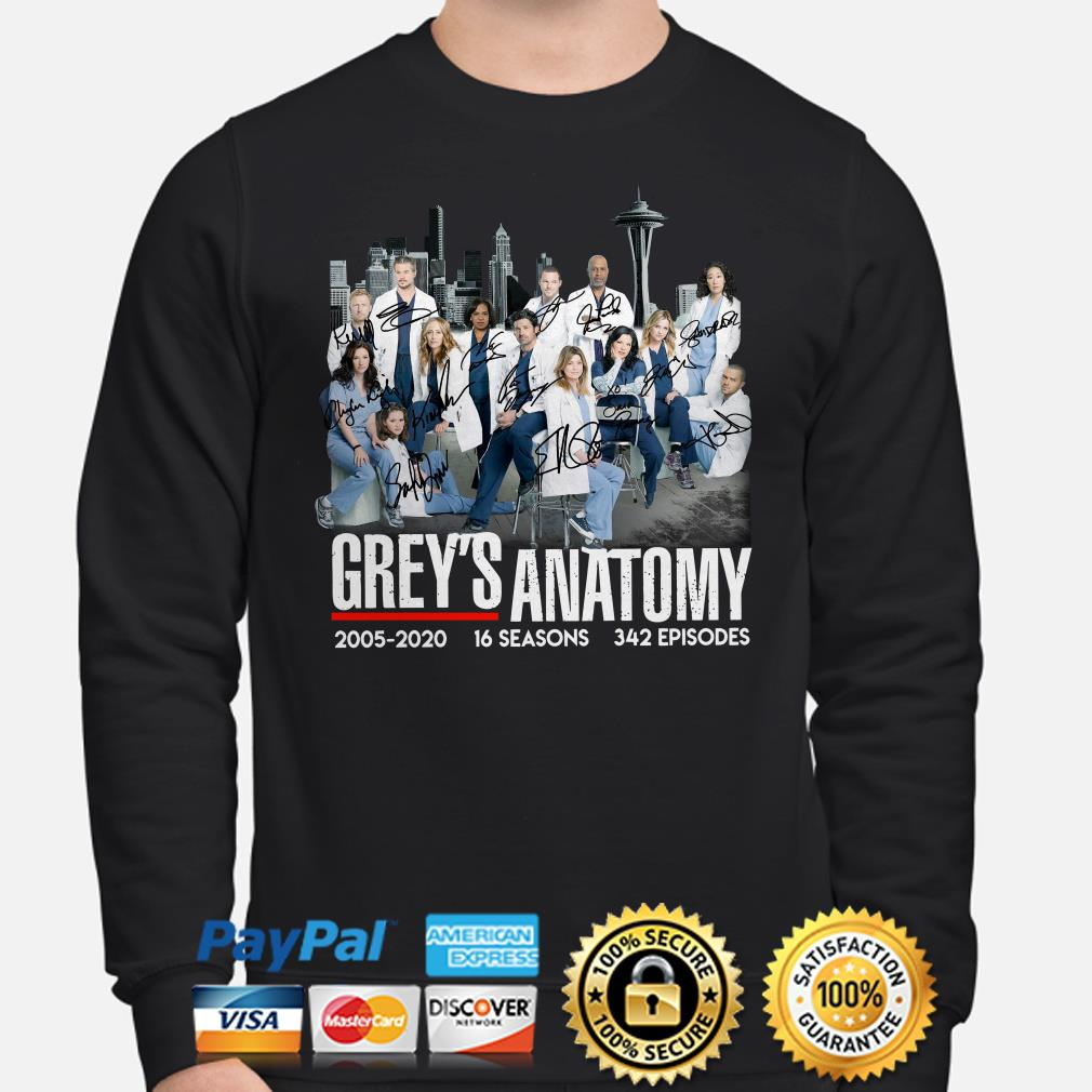 Grey's Anatomy 2005 2020 signatures Sweater