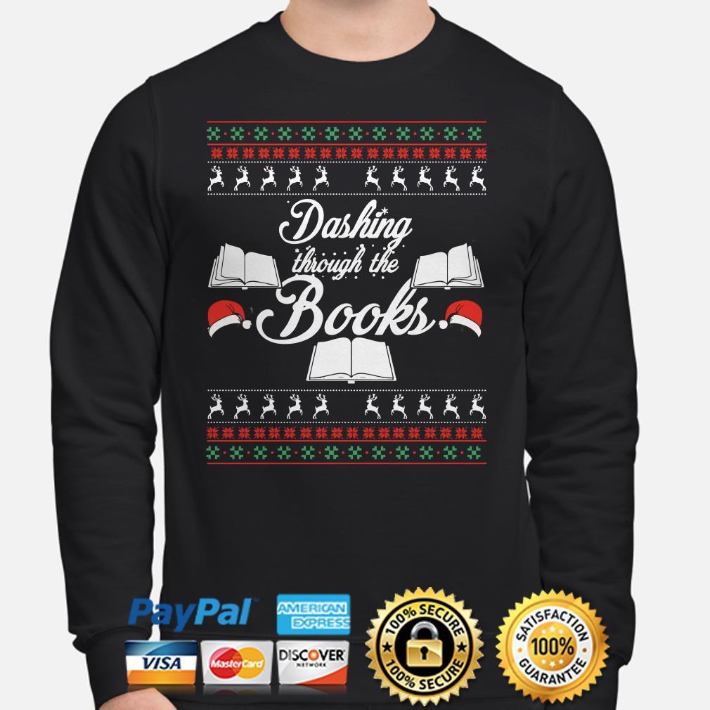 Dashing through the books ugly Christmas sweater