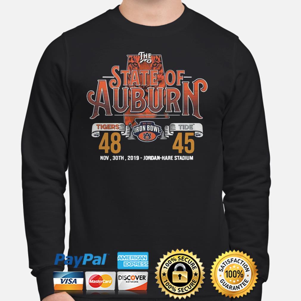 The State of Auburn Tigers Tide Nov 30th 2019 Jordan Hare Stadium Sweater