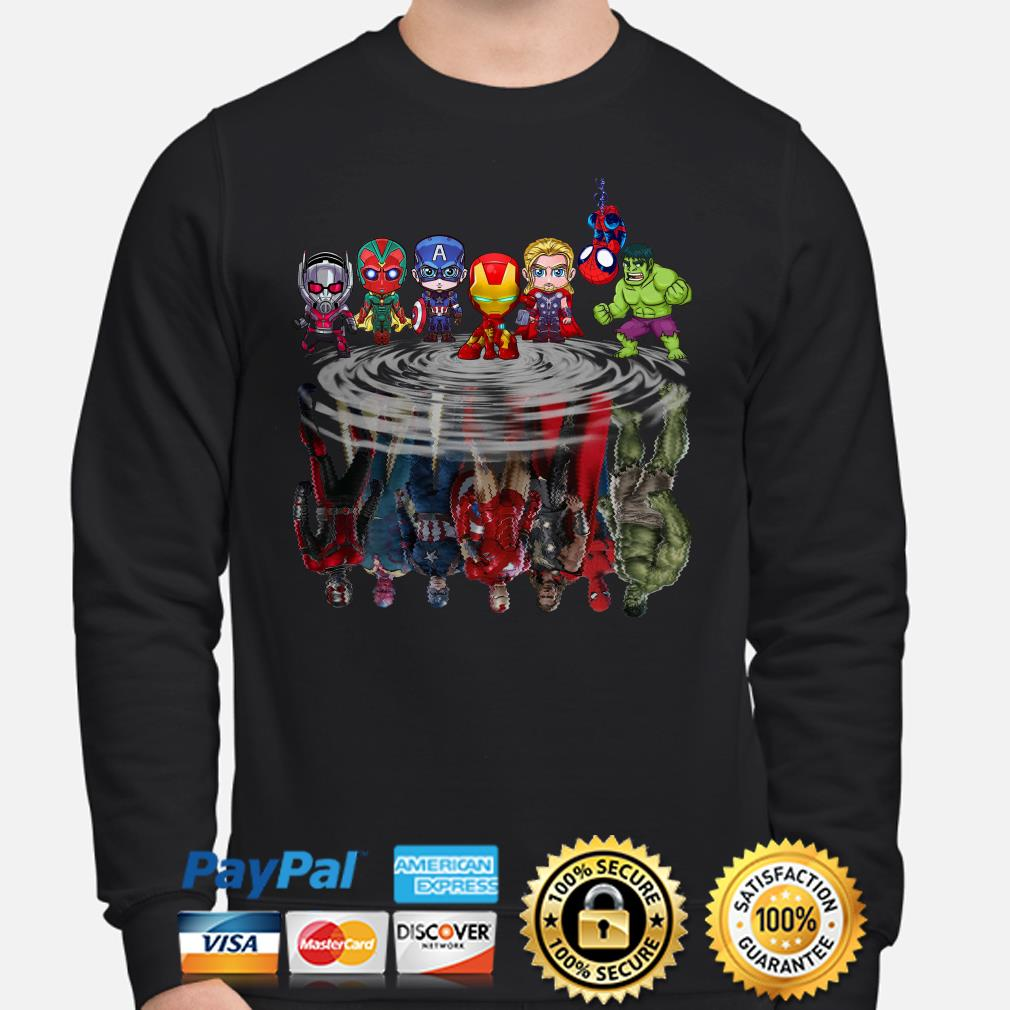 Marvel Chibi characters water mirror Sweater