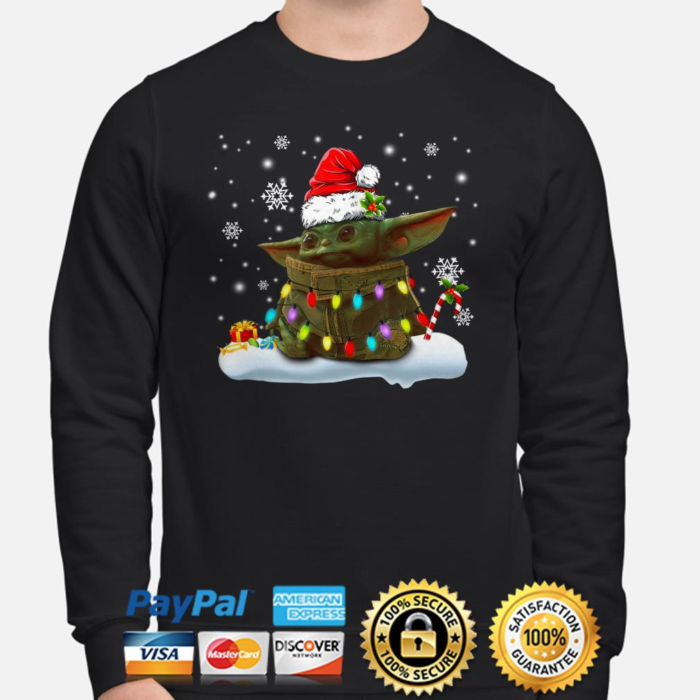 Santa Baby Yoda Christmas sweater