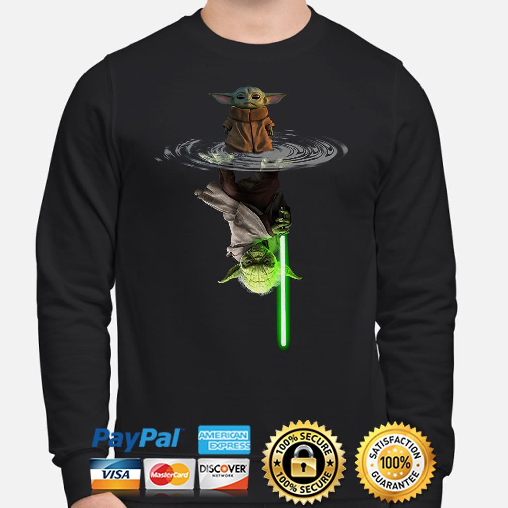Baby Yoda water mirror Lightsaber Sweater