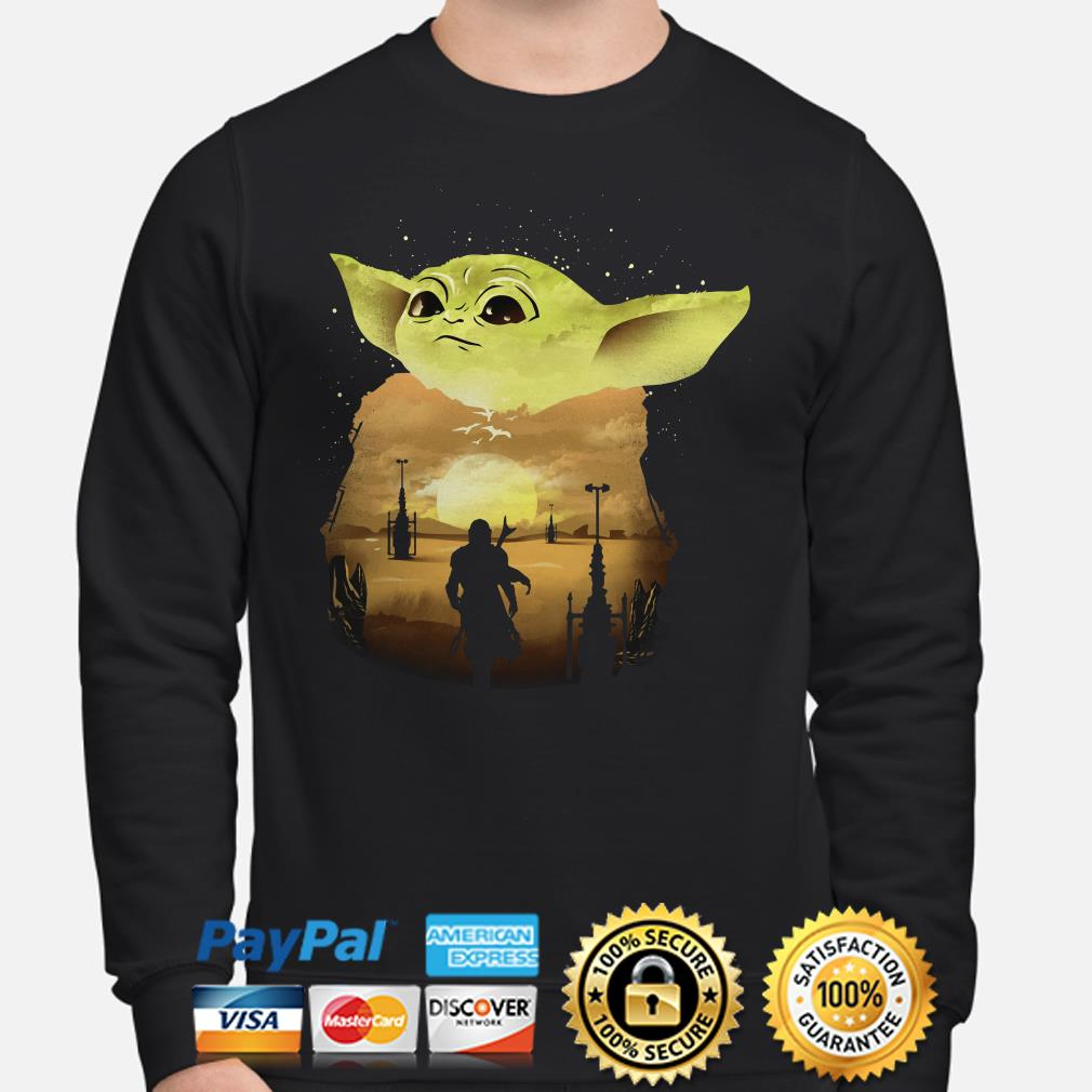 Baby Yoda Sunset Sweater