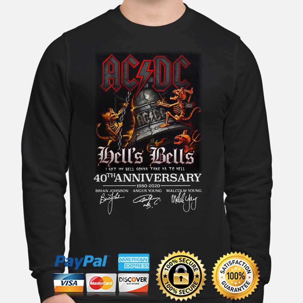 AC DC Hell's Bells 40th anniversary signature Sweater