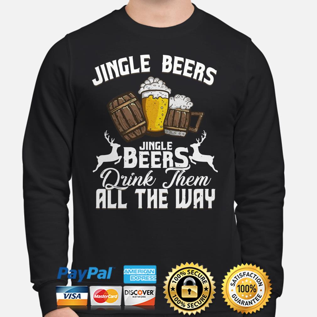 Jingle beers drink them all the way Christmas sweater