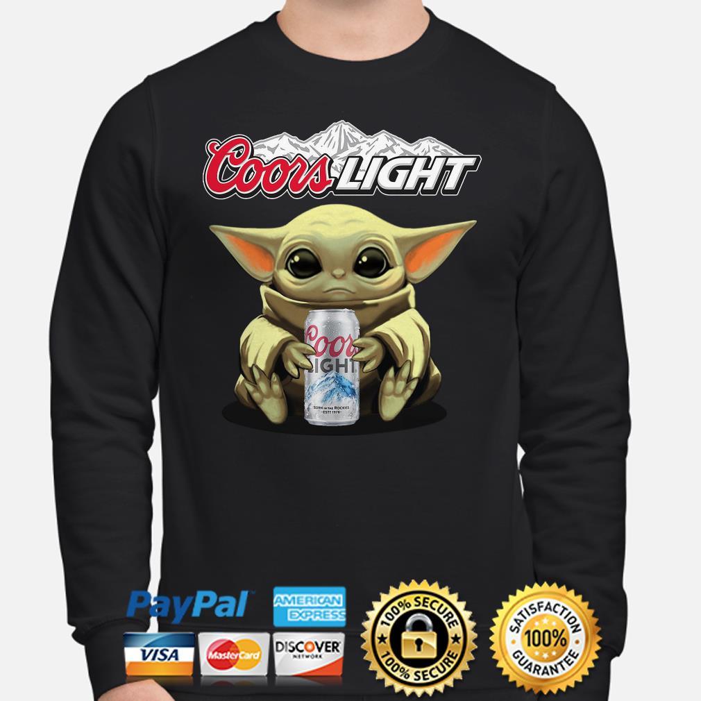 Baby Yoda hug Coors Light beer Sweater