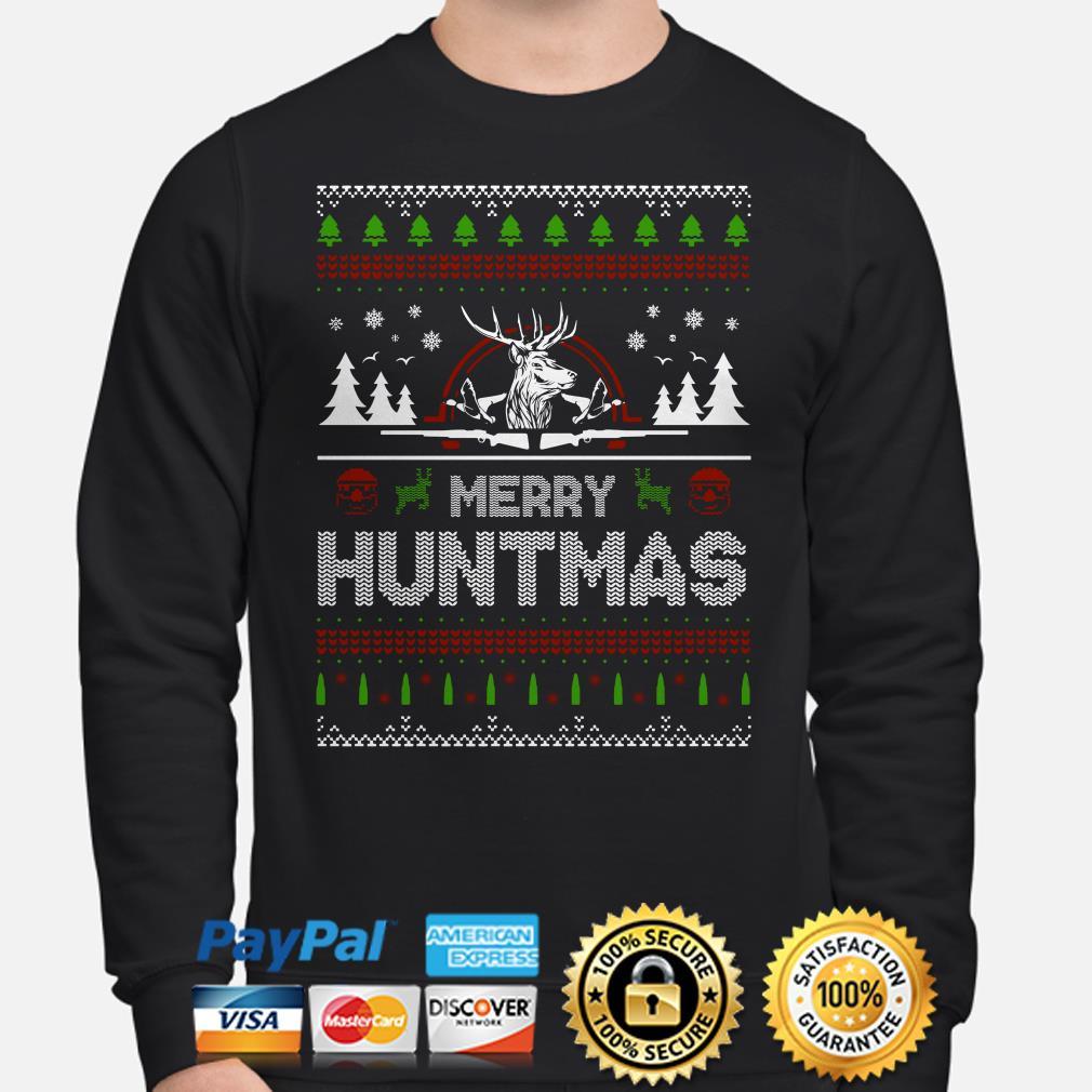 Deer Hunting Merry Huntmas ugly Christmas sweater