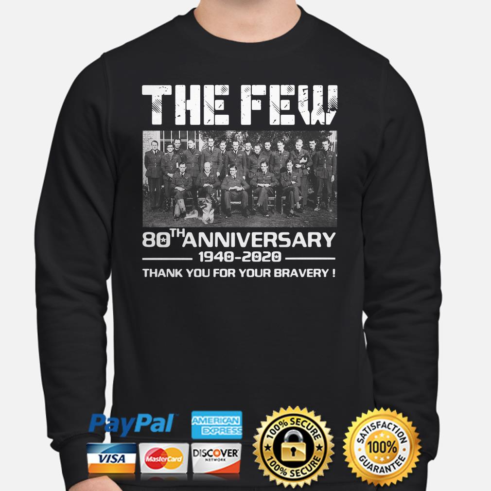 The Few 80th Anniversary thank you for the memories Sweater