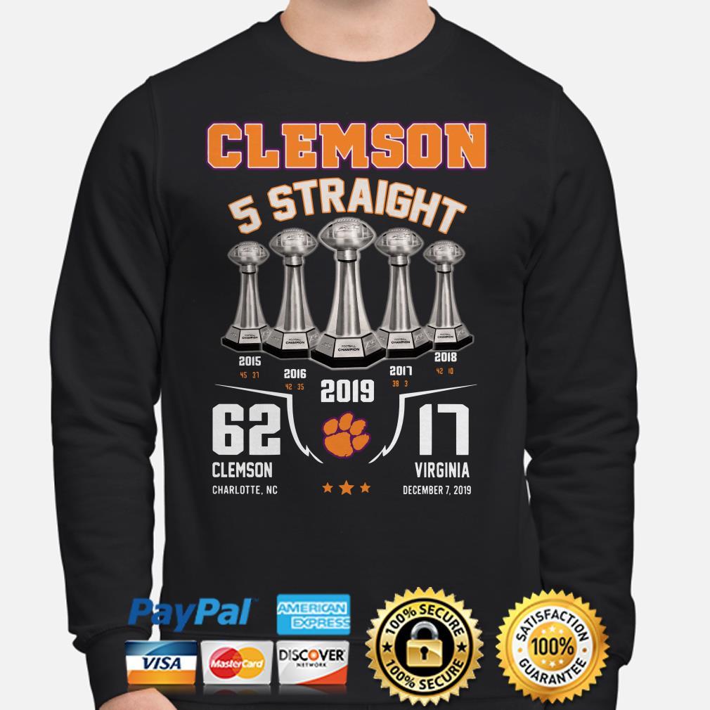 Alabama Clemson Tigers 5 straight 2019 Sweater