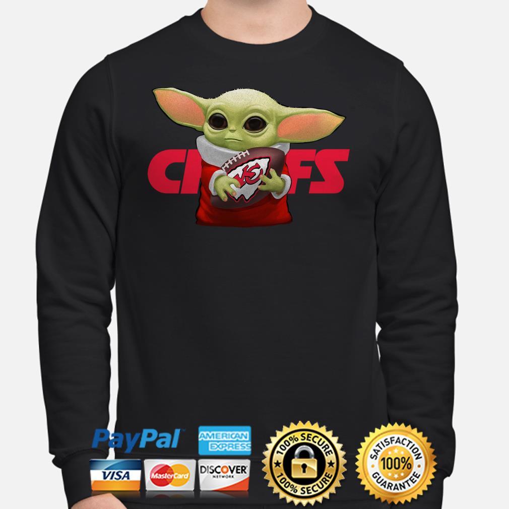 Baby Yoda hug Kansas City Chiefs Sweater
