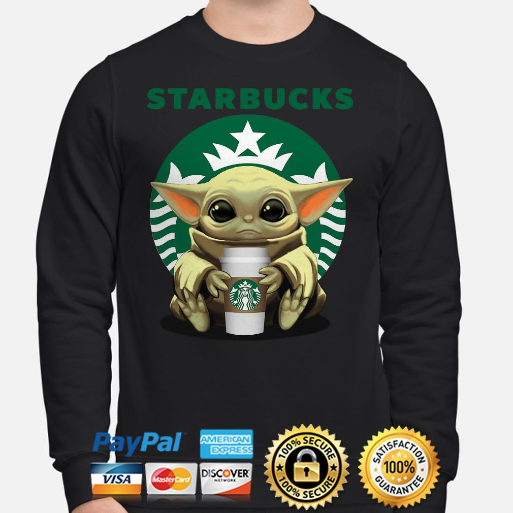 Baby Yoda hug Starbucks Coffee Sweater