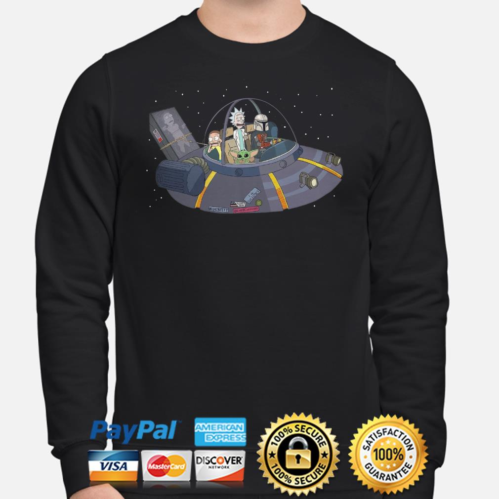Rick and Morty, Baby Yoda, Mandalorian in the Spaceship Sweater