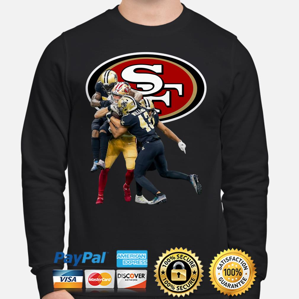 San Francisco and New Orleans Saints Marcus Williams Sweater