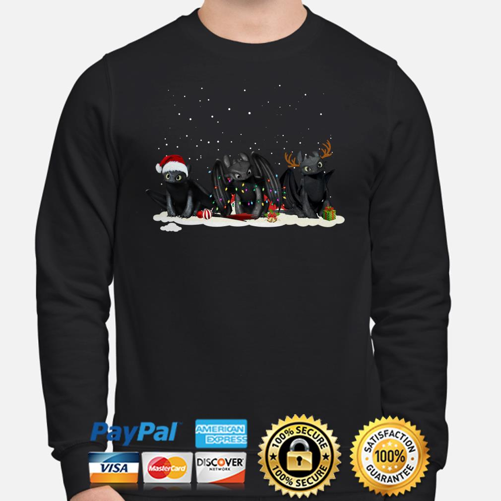 Santa Night Fury reindeer Christmas sweater