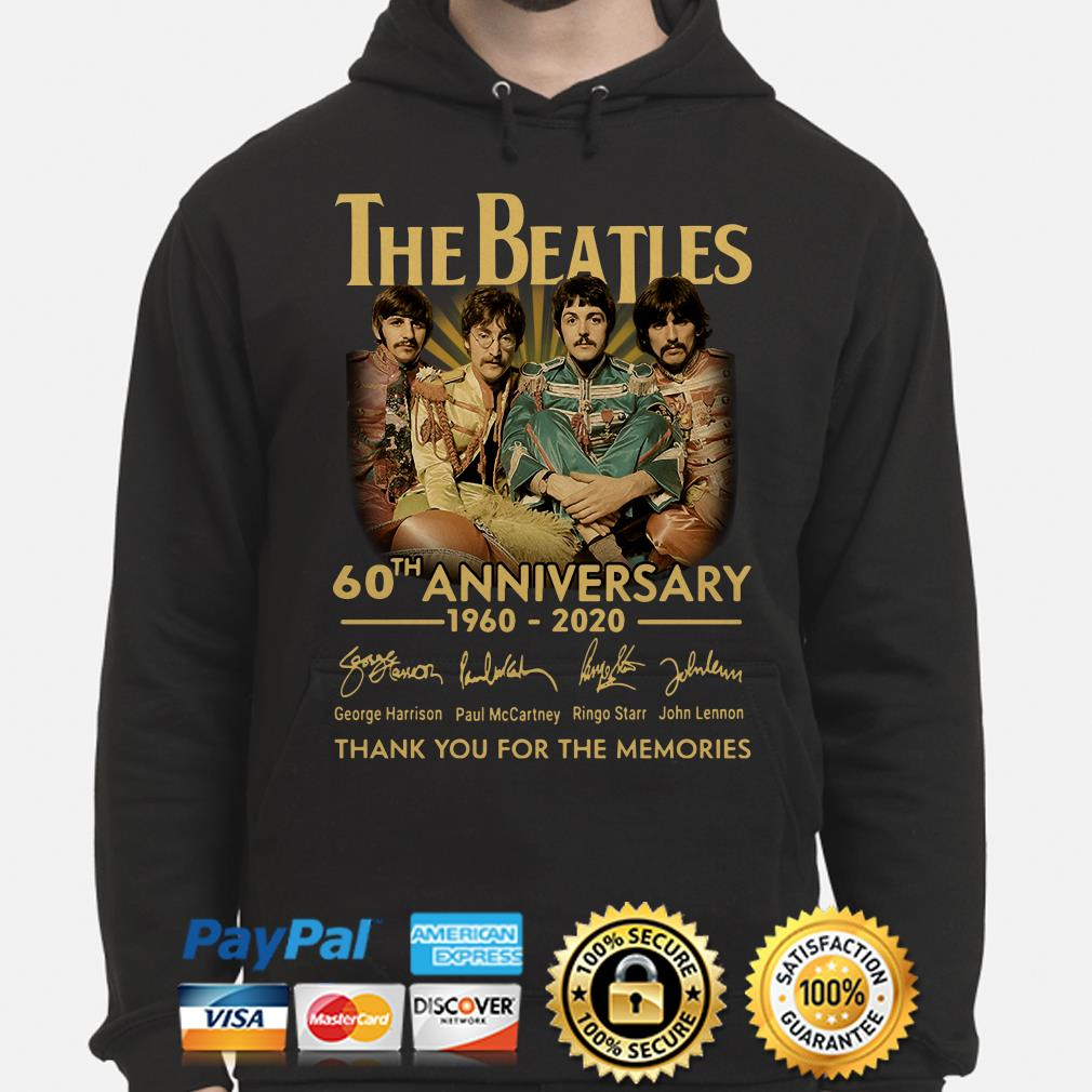 The Beatles 60th Anniversary thank you for the memories signature Hoodie