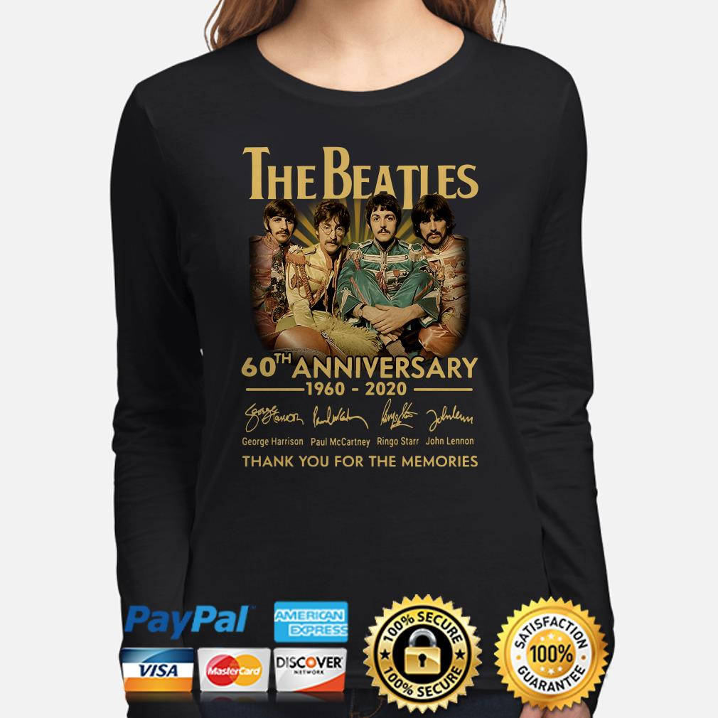 The Beatles 60th Anniversary thank you for the memories signature Long sleeve