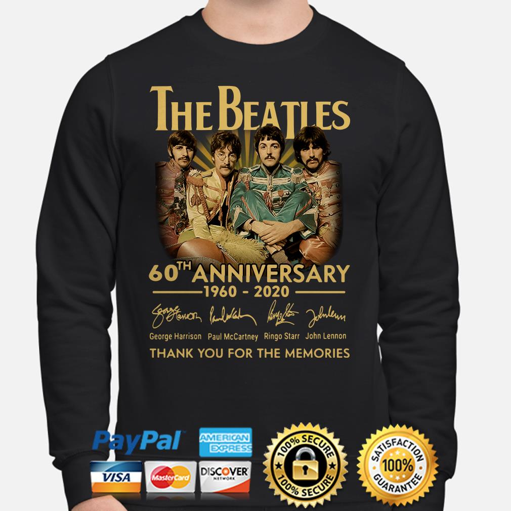 The Beatles 60th Anniversary thank you for the memories signature Sweater