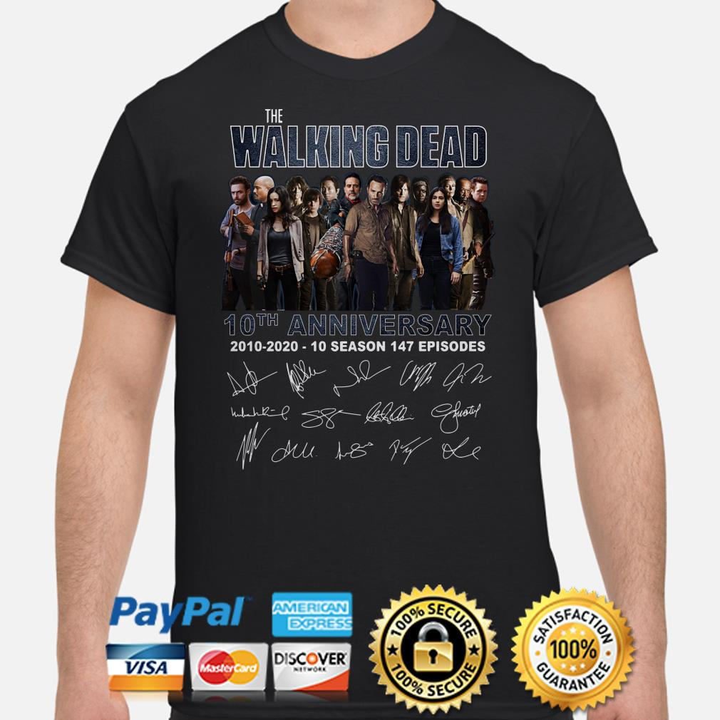The Walking Dead 10th Anniversary signature shirt