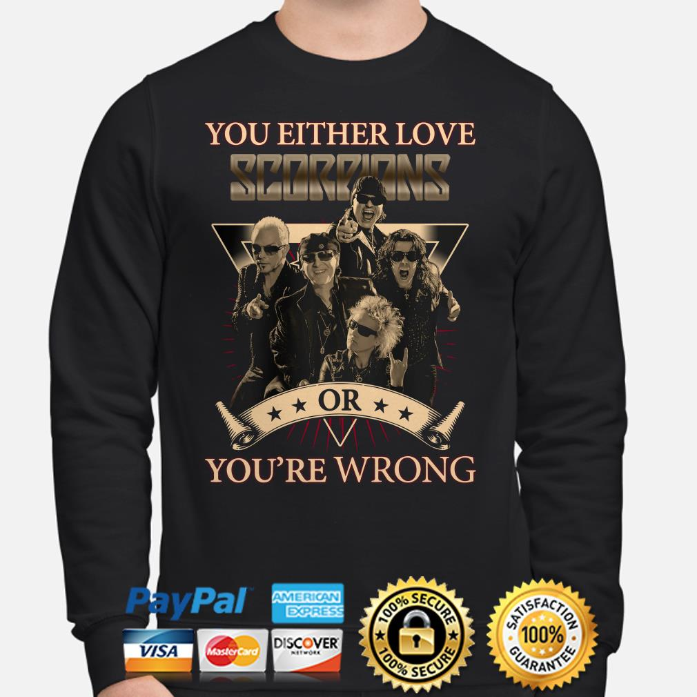 You Either love Scorpions or you're wrong Sweater