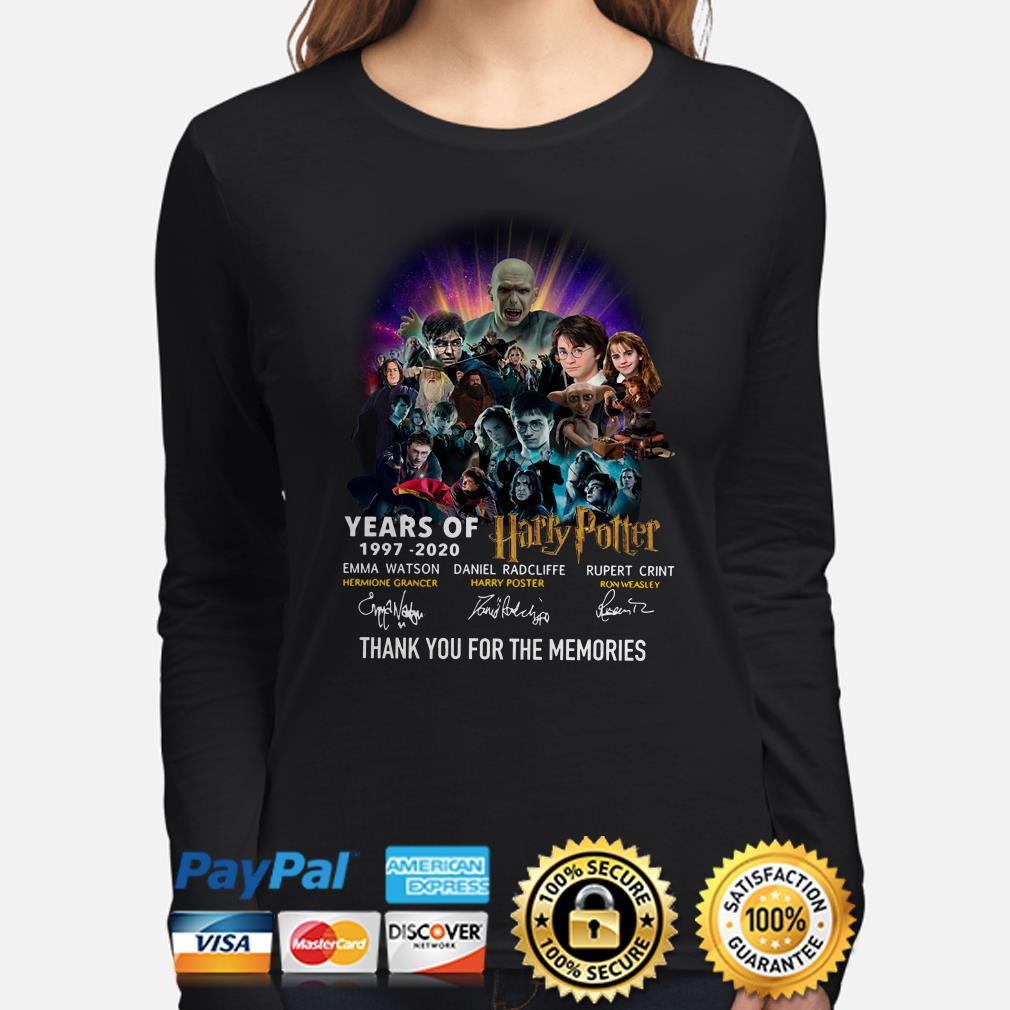 23 years of Harry Potter thank you for the memories signature Long sleeve