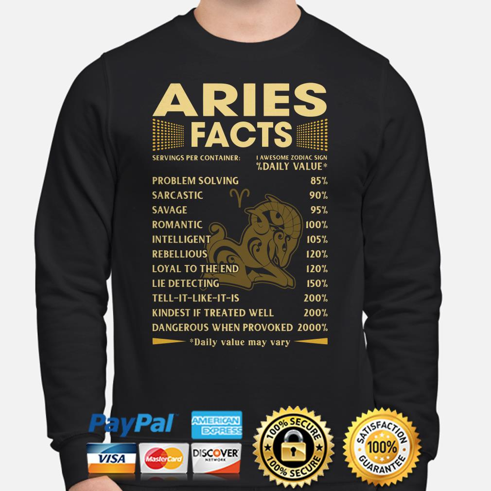 Aries Facts Servings per container daily value Sweater