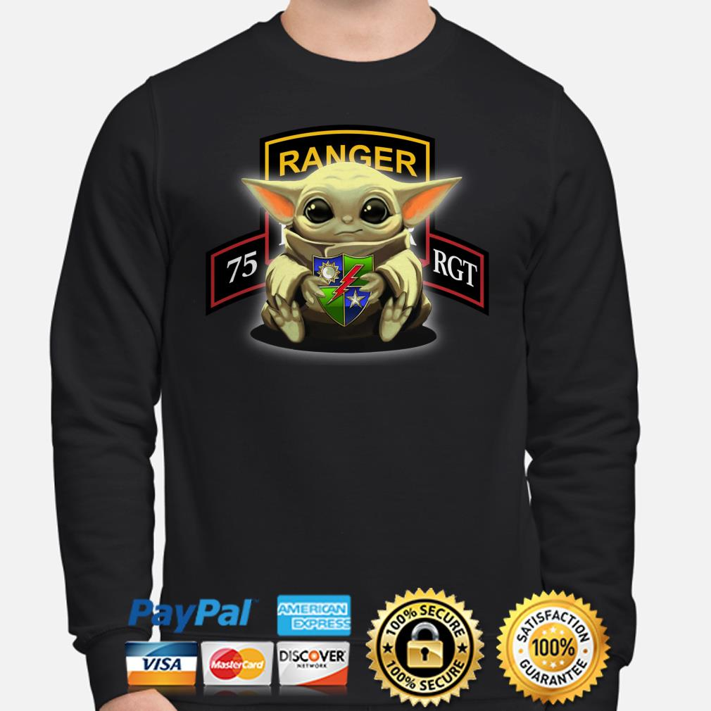 Baby Yoda Hug 75th Ranger Regiment Sweater
