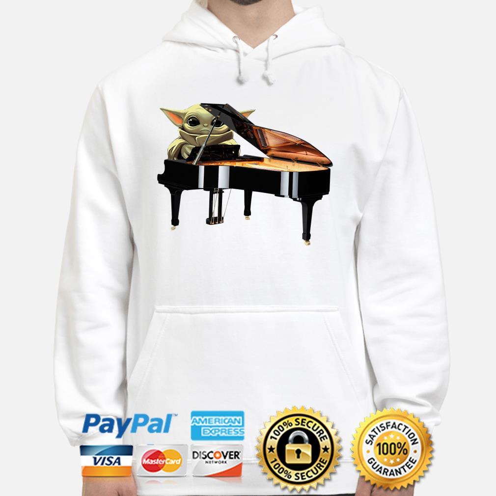Baby Yoda hug Piano Hoodie