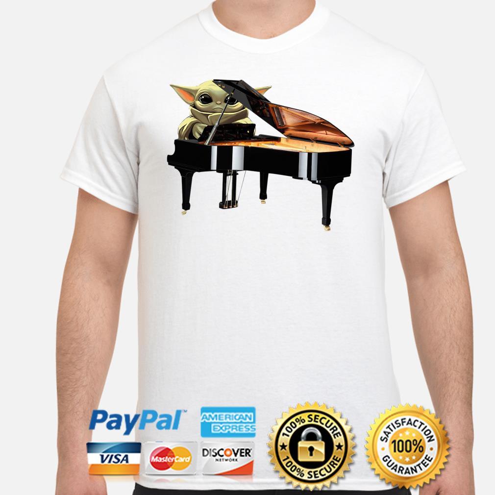 Baby Yoda hug Piano shirt