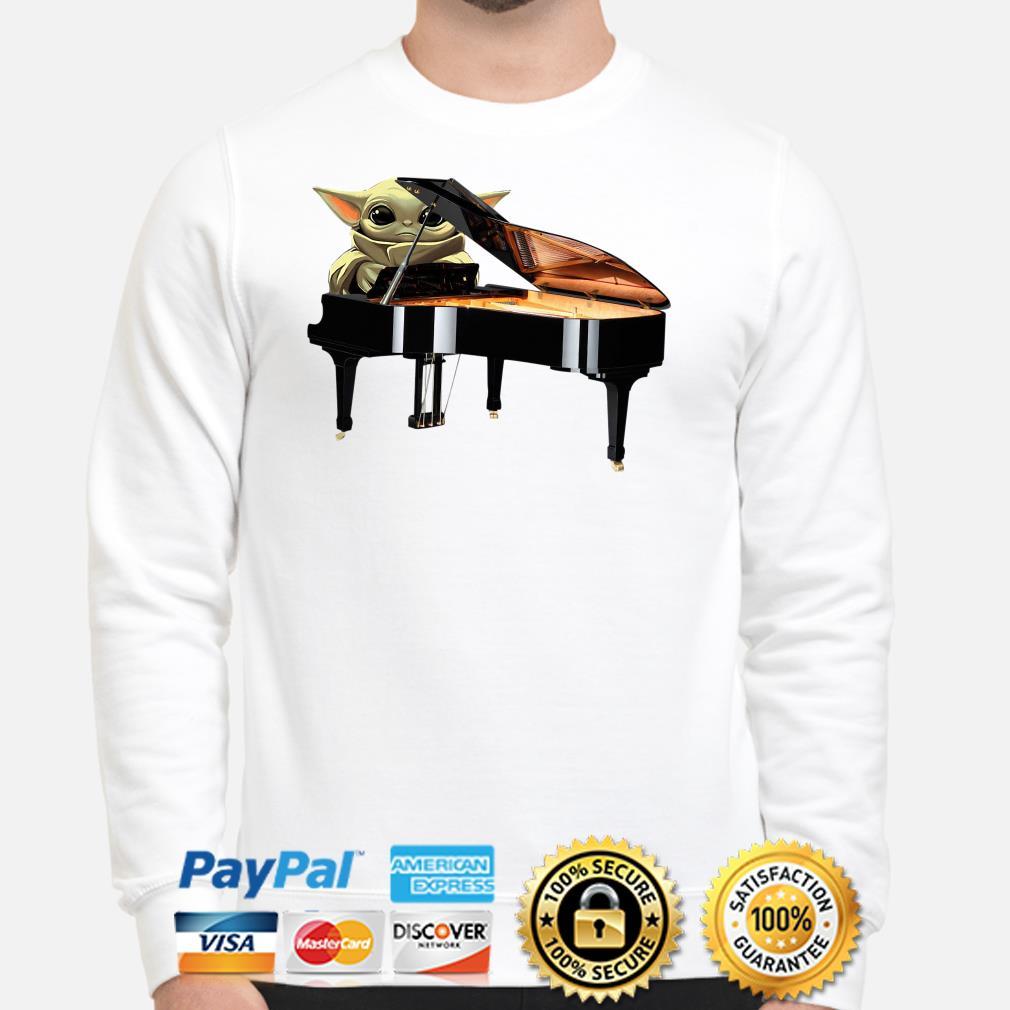 Baby Yoda hug Piano Sweater