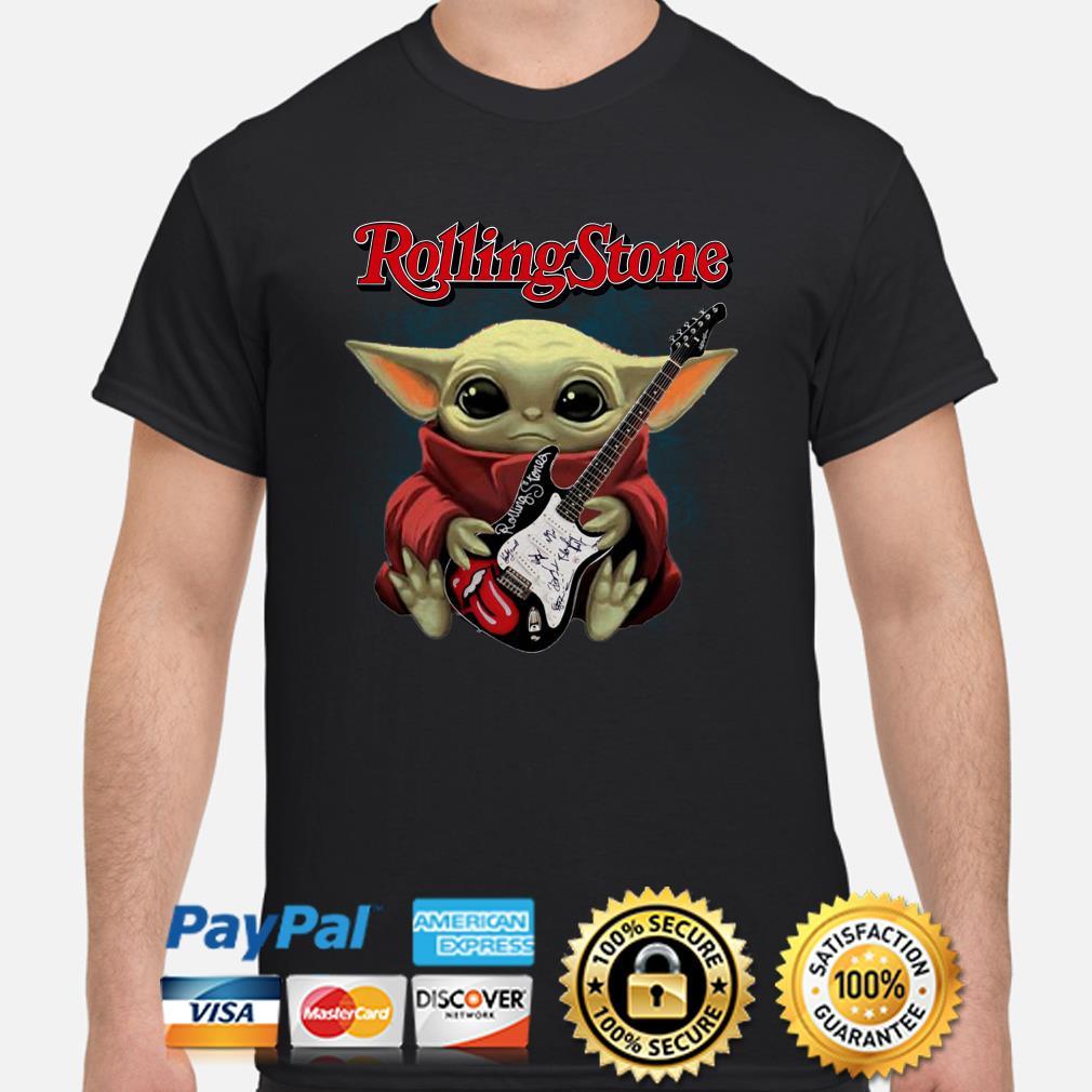 Baby Yoda Hug Rolling Stone Shirt