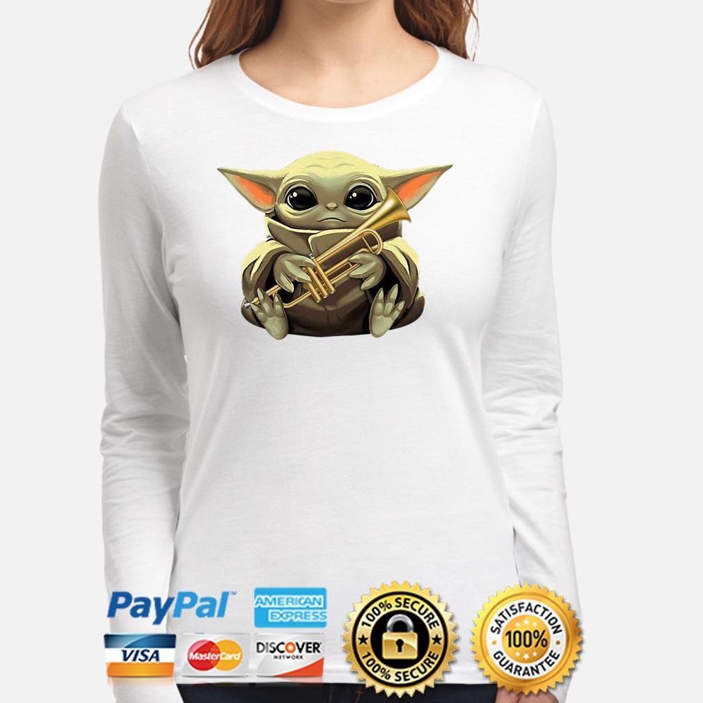 Baby Yoda hug Trumpet Long sleeve