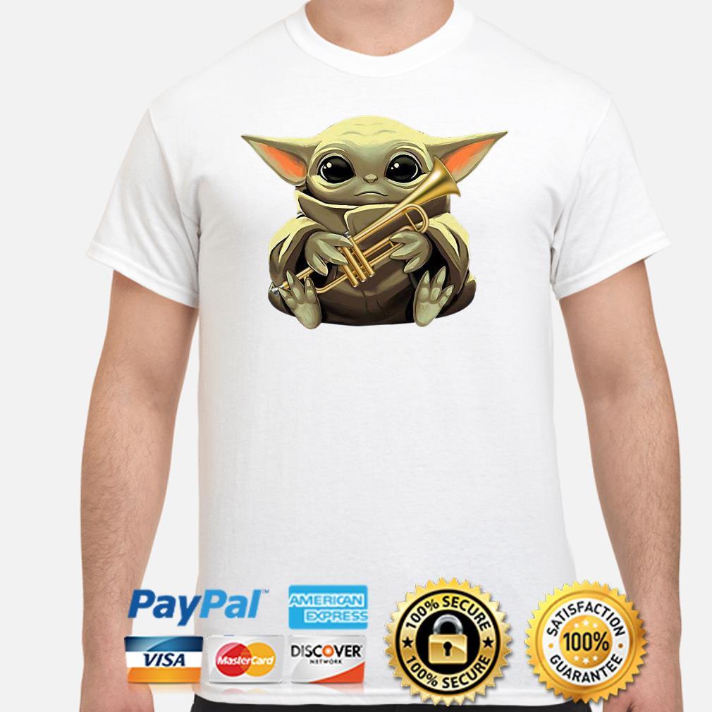 Baby Yoda hug Trumpet shirt