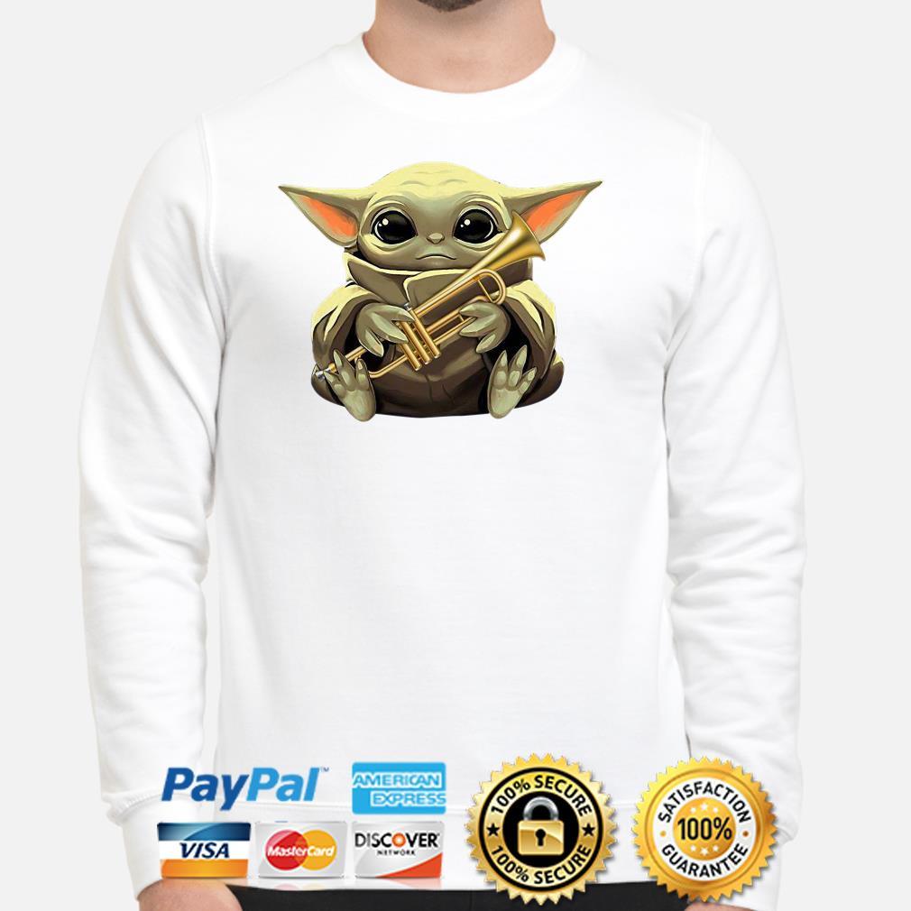 Baby Yoda hug Trumpet Sweater