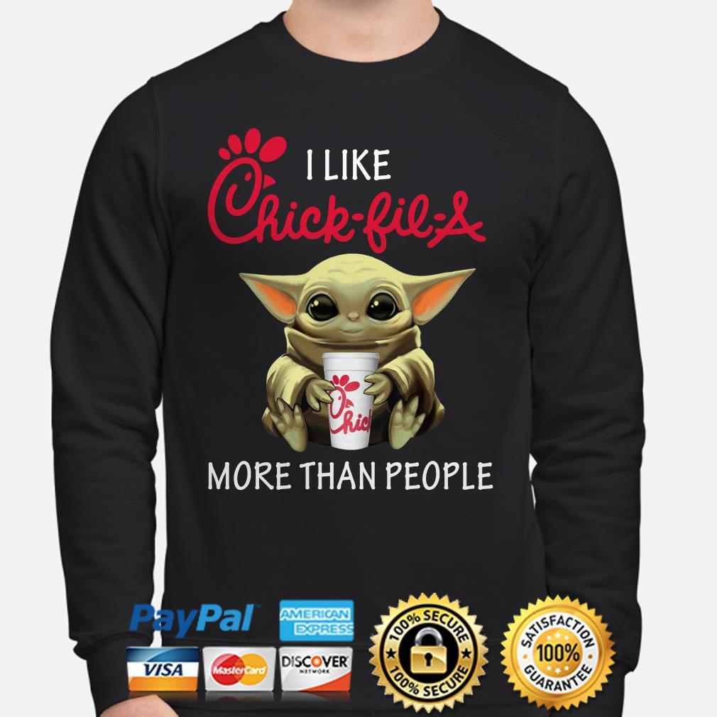 Baby Yoda I like Chick-Fil-A more than people Sweater