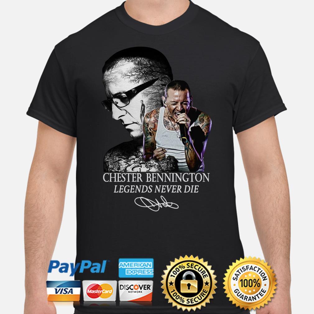 Chester Bennington Legends never die signature shirt