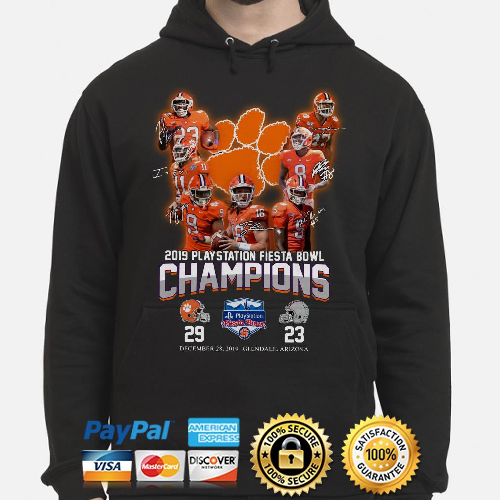Clemson Tigers 2019 Playstation Fiesta Bowl Champion signature Hoodie