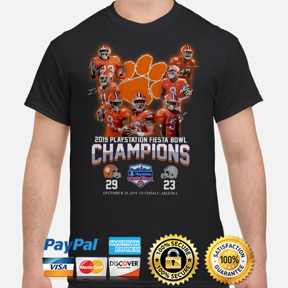 Clemson Tigers 2019 Playstation Fiesta Bowl Champion signature shirt