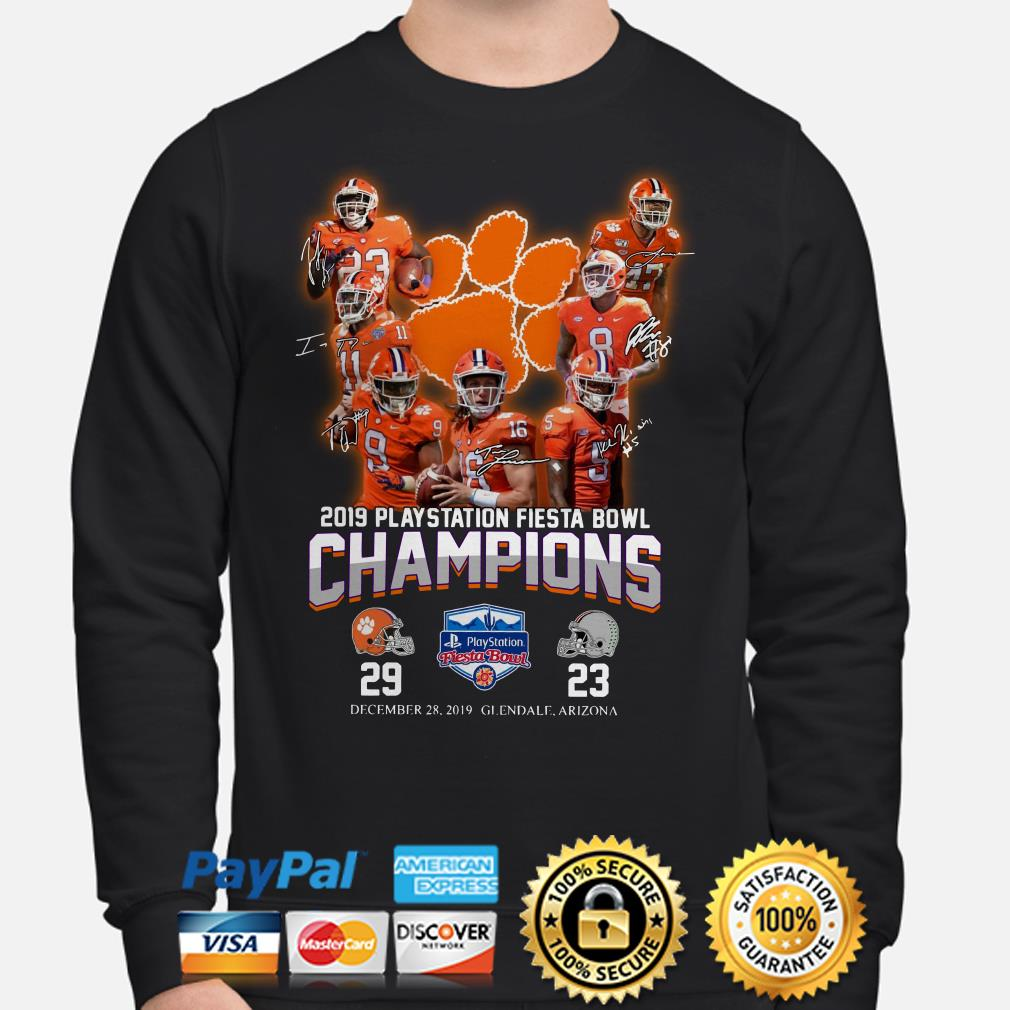 Clemson Tigers 2019 Playstation Fiesta Bowl Champion signature Sweater